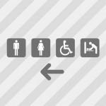 多機能トイレの案内表示テンプレート