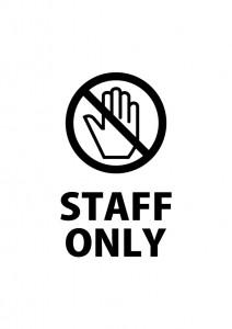 関係者以外の立ち入りを注意する張り紙テンプレート