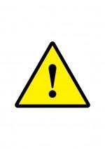 ビックリマークの注意貼り紙テンプレート