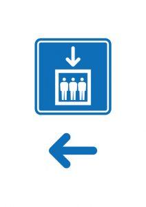 エレベーターの案内(左方向)貼り紙テンプレート