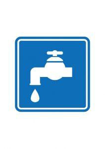 水道案内標識アイコンの貼り紙ワードテンプレート