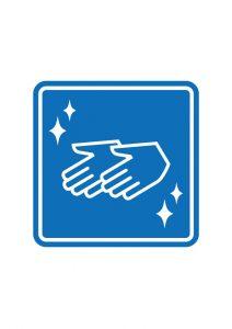手洗い案内標識アイコンの貼り紙ワードテンプレート