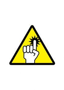 指づめ注意標識アイコンの貼り紙ワードテンプレート