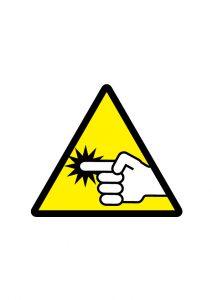 指はさみ注意標識アイコンの貼り紙ワードテンプレート