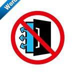 冷蔵・冷凍扉の開放厳禁標識アイコンの貼り紙ワードテンプレート