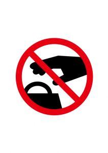 置引き・窃盗禁止標識アイコンの貼り紙ワードテンプレート