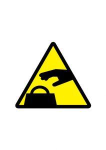 置引き・窃盗注意標識アイコンの貼り紙ワードテンプレート