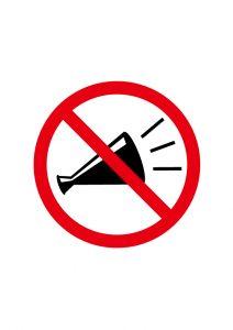 コール・声掛け禁止標識アイコンの貼り紙ワードテンプレート