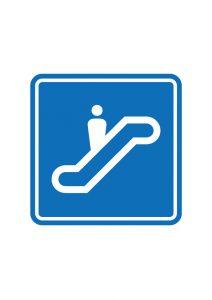 エスカレーター標識アイコンの貼り紙ワードテンプレート