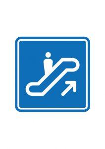 登りエスカレーター案内標識アイコンの貼り紙ワードテンプレート