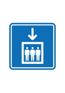 エレベーター案内標識アイコンの貼り紙ワードテンプレート