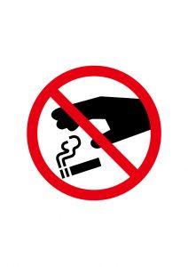 タバコのポイ捨てNGの標識アイコンの貼り紙テンプレートデータ