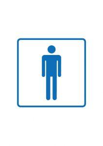 男性トイレマーク標識アイコンの貼り紙テンプレートデータ