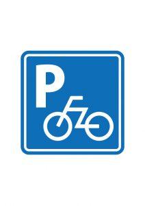 自転車の駐輪場案内標識アイコンの貼り紙ワードテンプレート