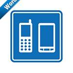 携帯・スマホの案内標識アイコンの貼り紙ワードテンプレート