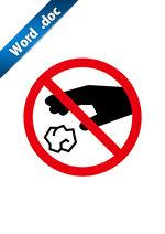 ポイ捨て禁止標識アイコンの貼り紙ワードテンプレート