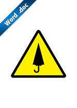 傘の忘れ物注意標識アイコンの貼り紙ワードテンプレート