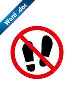 土足禁止標識アイコンの貼り紙ワードテンプレート