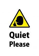 英語の「お静かにお願いします」注意貼り紙テンプレート