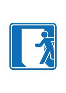 入口案内標識アイコンの貼り紙ワードテンプレート