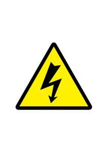 感電注意標識アイコンの貼り紙ワードテンプレート