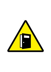 扉の開放注意標識アイコンの貼り紙ワードテンプレート