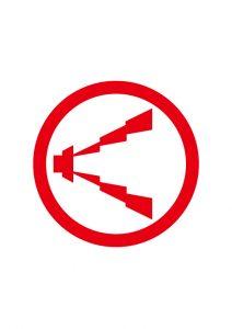 警報マーク案内標識アイコンの貼り紙ワードテンプレート