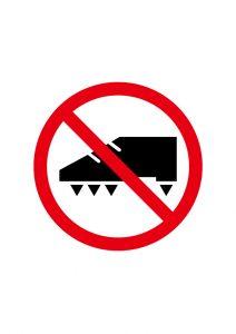 スパイク禁止標識アイコンの貼り紙ワードテンプレート
