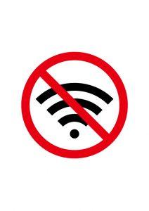 Wi-fi無しの標識アイコンの貼り紙ワードテンプレート