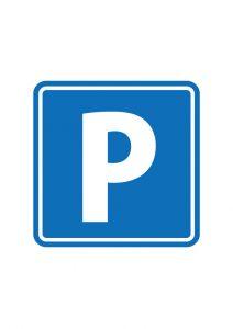 駐車場案内標識アイコンの貼り紙ワードテンプレート