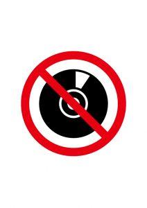 CD(コピー)禁止標識アイコンの貼り紙ワードテンプレート