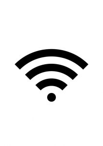 Wi-Fi案内アイコンの貼り紙ワードテンプレート