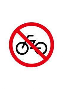 自転車・駐輪禁止標識アイコンの貼り紙ワードテンプレート