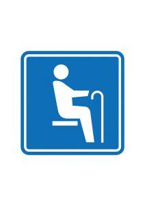 お年寄りの方を表す優先席案内標識アイコンの貼り紙ワードテンプレートデータ