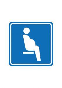 妊娠している方を表す優先席案内標識アイコンの貼り紙ワードテンプレートデータ