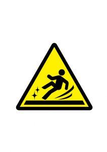 滑りやすい床の注意標識アイコンの貼り紙ワードテンプレート
