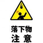 頭上からの落下物の注意貼り紙テンプレート