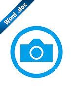 撮影OK・許可の標識アイコンの貼り紙ワードテンプレート