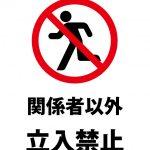 関係者以外 立入禁止の注意貼り紙テンプレート