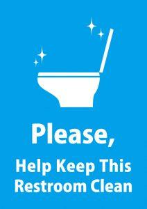 英語でトイレのキレイに使ってもらうお願い貼り紙テンプレート