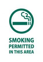 英語での喫煙許可エリアの案内貼り紙テンプレート