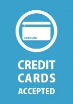 英語でのクレジットカード支払いOKの貼り紙テンプレート