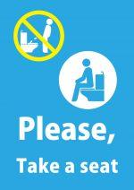 英語でトイレの着座お願い貼り紙テンプレート