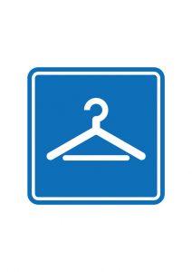 更衣室・試着室 フィッティング 案内標識アイコンの貼り紙ワードテンプレート