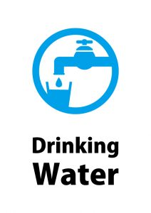 英語の飲料水の案内貼り紙テンプレート