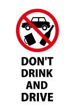 英語のの飲酒運転禁止の注意貼り紙テンプレート