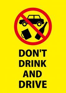 英語の飲酒運転禁止の注意貼り紙テンプレート