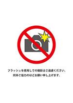 フラッシュ撮影禁止の張り紙テンプレート