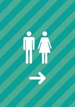 【印刷可能pdf】トイレ案内張り紙テンプレート