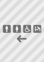 多機能トイレの案内を示す、貼り紙テンプレート